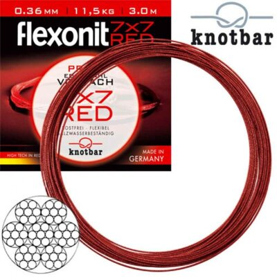 Flexonit RED 7x7 - 0,27 mm 6,8kg 1m