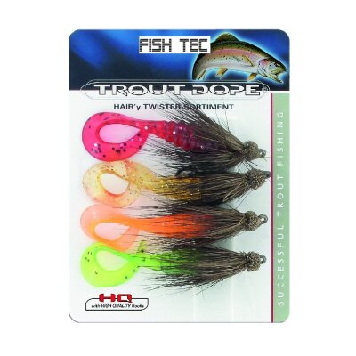 Jenzi Trout Dope Hair´y Twister Sortiment  Gr.3,5cm