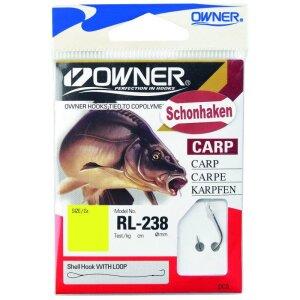 Owner Karpfen Schonhaken Größe 3 Ø0,22mm Inhalt 10 Stück