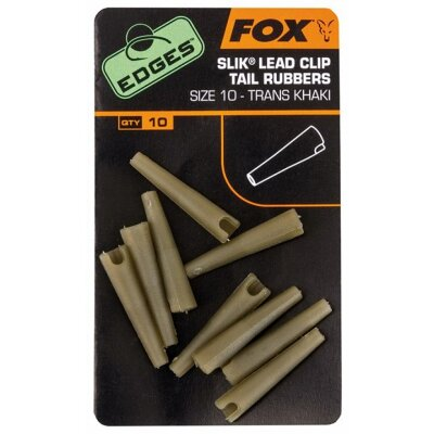 Fox Slik Lead Clip Tail Rubbers Size 10
