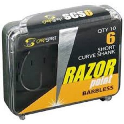 Carp Spirit - Razorpoint Short Curve Shank Barbless
