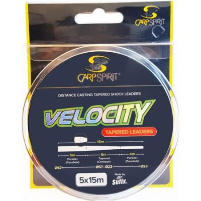 Carp Spirit Velocity Tapered Leader 5x15m 0,23-0,57mm