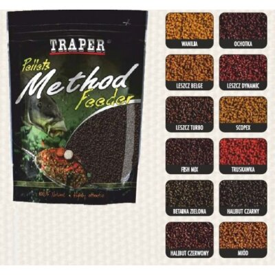 Traper Pellets Method Feeder Ready 500g 2mm