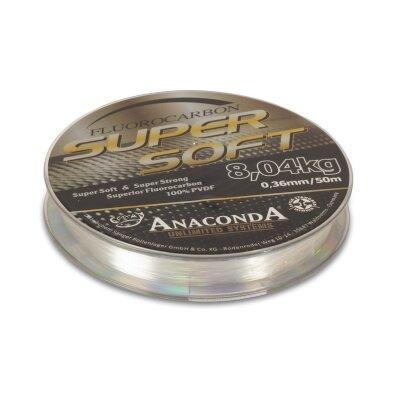 Anaconda Supersoft Fluorocarbon 50m 7,69kg Ø0,32mm
