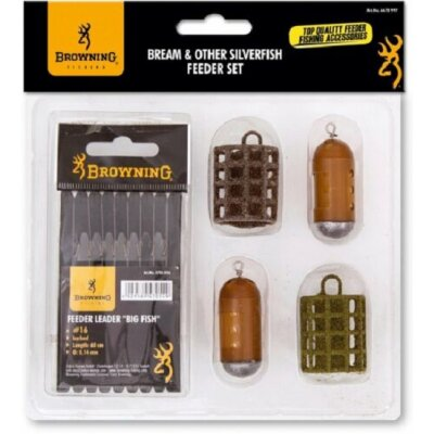 Browning Bream& Other Sllverfish Feeder Kit Barbless