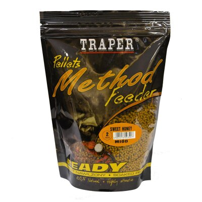 Traper Pellets Method Feeder Ready 500g 2mm Sweet Honey