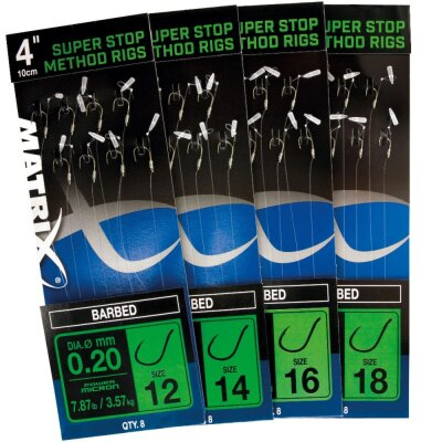 Matrix Super Stop Method Rigs (barbed) Size 16