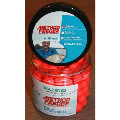 Balzer Method Feeder Haken Pellets 10mm Erdbeer 120g