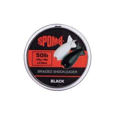 Spomb Braided Leader 22kg 50lb black 50m 0,26mm