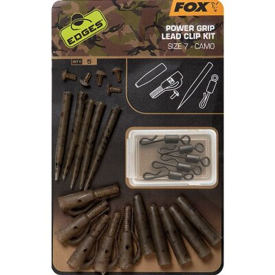 Fox Camo Power Grip Lead Clip Kit Size 7