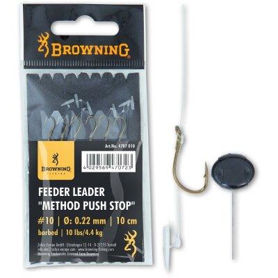 Browning Leader Method Push Stop 10cm 6St. Ø0,22mm...