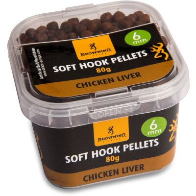 Browning Soft Hook Pellets Chicken Liver 6mm 80g